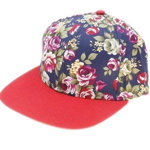 Jasido Womens Blue Floral 5 Panel Dad Trucker Hat